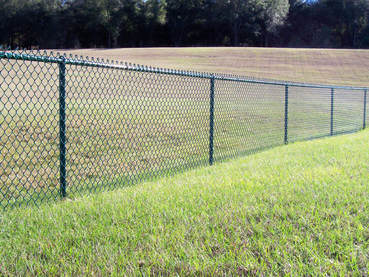 charlotte fencing black coated chain link fence