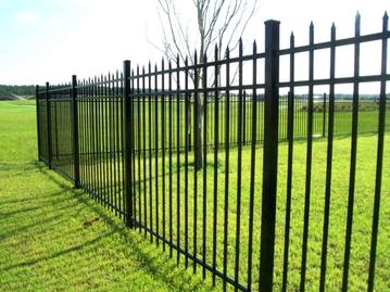 charlotte fencing black metal aluminium picket fence