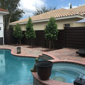 charlotte fencing brown vinyl pool privacy fence