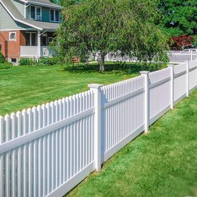charlotte fencing white vinyl picket fence