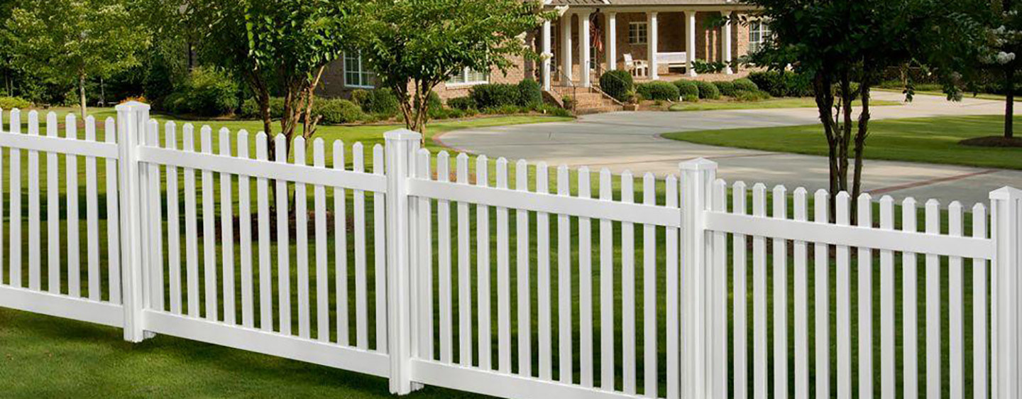 Charlotte fencing - white vinyl picket fence